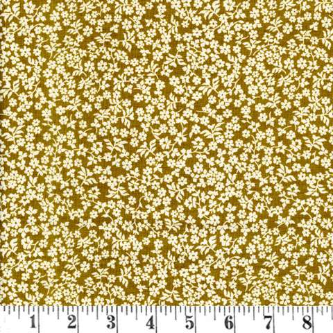 W282 Briarcliff - Daisies (Mustard/Cream)