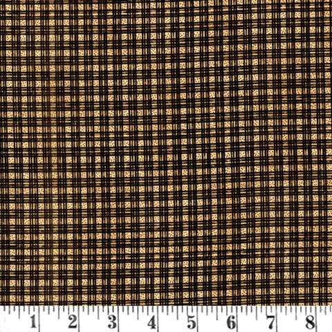 W865 Quilter's Garden Black/Tan Plaid