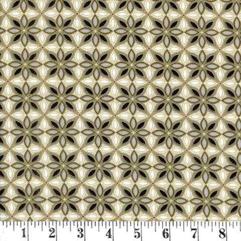 W954 Southern Charm - Sandstone Pendant Foulard w/Metallic