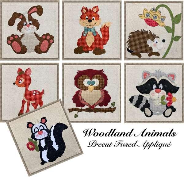 Club - Woodland Animals Precut Fused Appliqué Packs