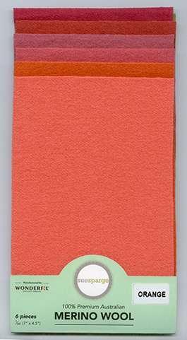Sue Spargo Wool Pack - Orange preview
