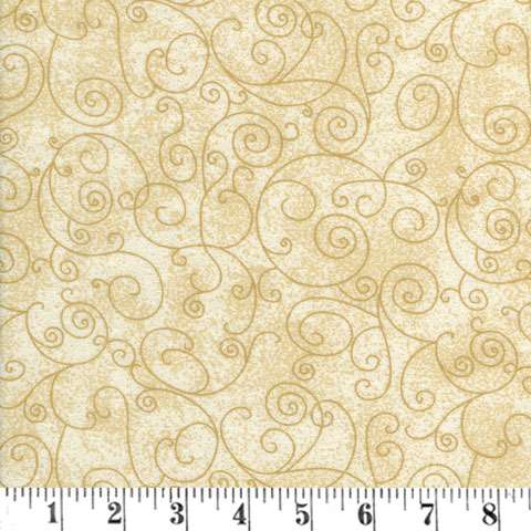 X278 Extra Wide Backing - Flannel - cream with a squiggle