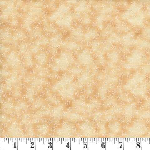 X678 Stars on a spotted cream/ tan background