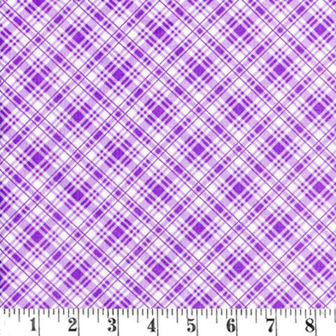 X759 Sausalito Cottage - Plaid Purple