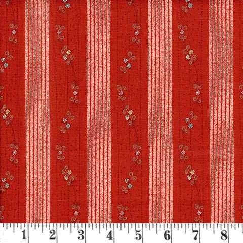 X863 Annemie - Red Floral Stripe