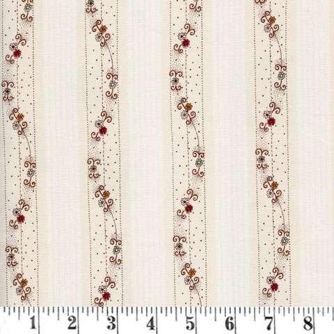 X869 Annemie - Cream Floral Stripe