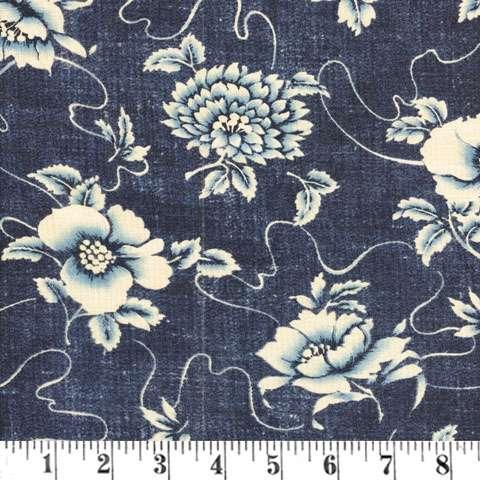 Y035 Indigo Floral - Denim