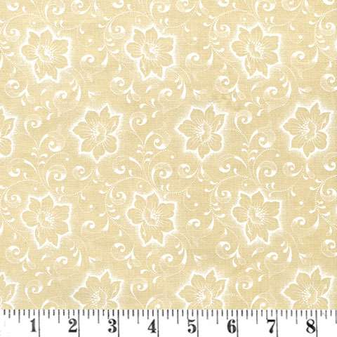 Y072 Iced Tea Collection - cream - floral/swirls