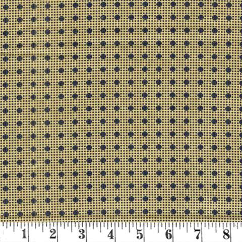 Y086 Lexington - dots - black/tan