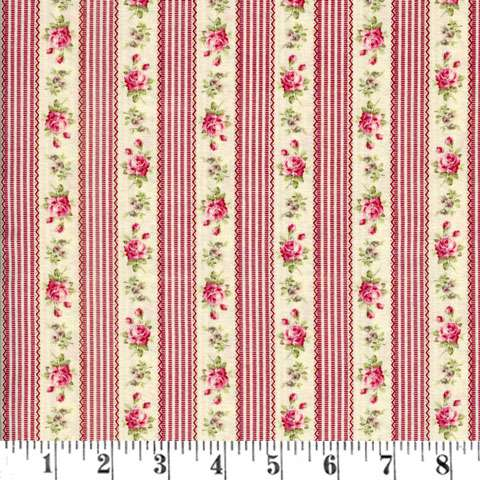 Y113 Red Ruru Bouquet - Stripe & Small Rose