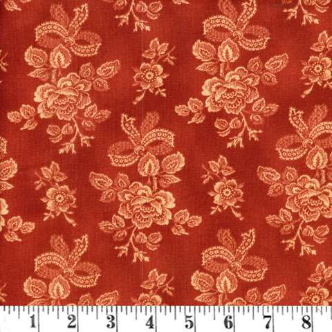 Y184 Sentimental Stitches - red lace floral