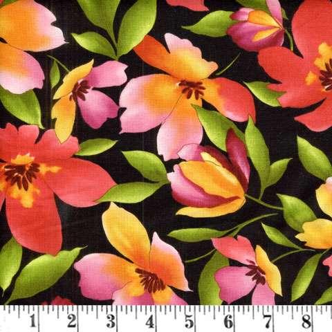 Y245 Catalina - large floral on black
