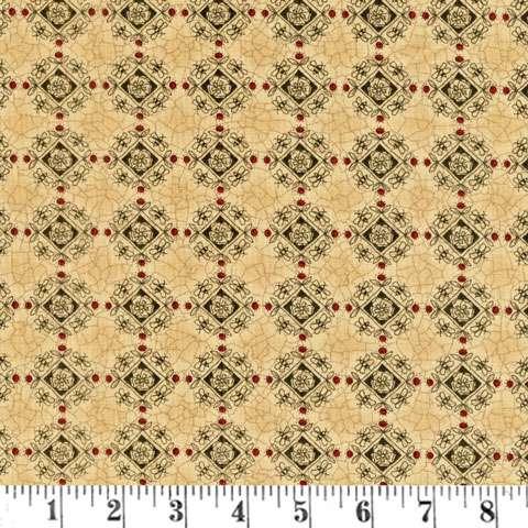 Y316 Patchwork Garden - Bee Medallin - Tan