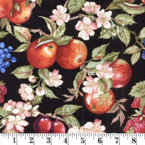 Y369 Avignon - Fruit & Flowers Black