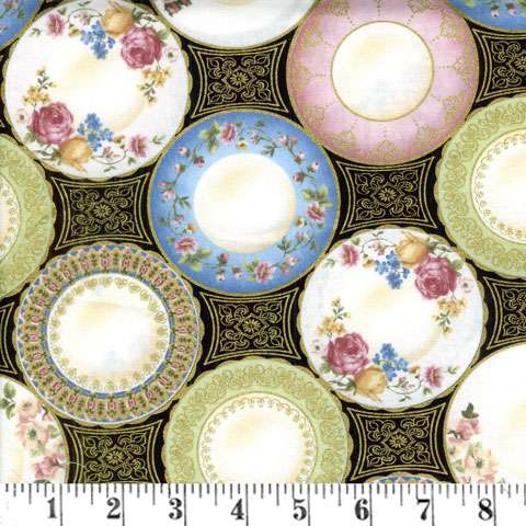 Y479 High Tea - plates with metallice gold overlay