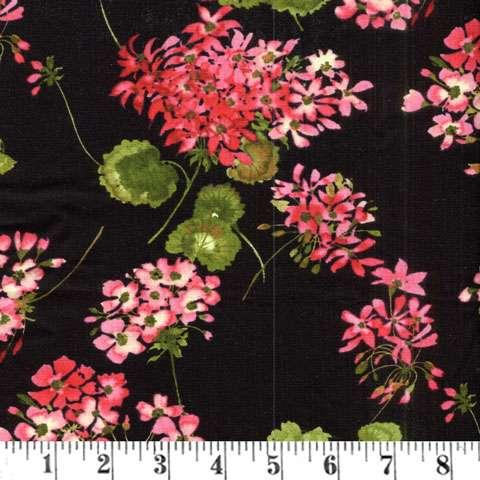 Y484 Sundance - geraniums on black