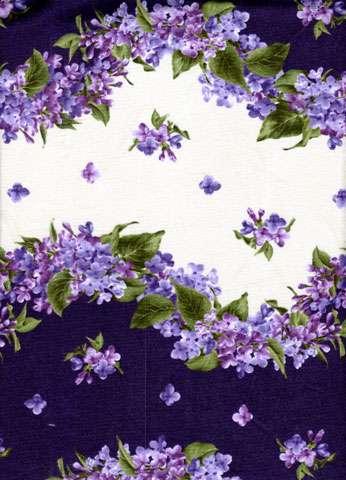 Y489 Fresh Lilacs - border stripe