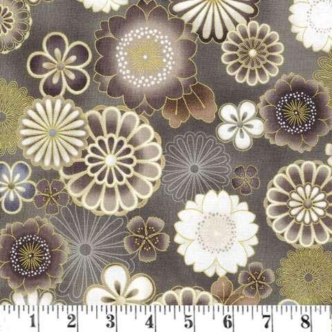 Y502 Vintage Satsuki Flower Metallic