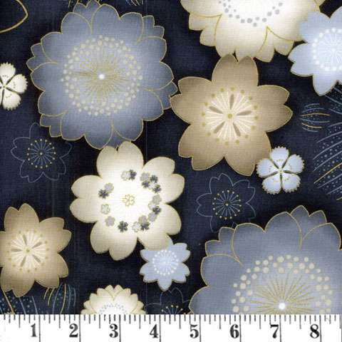 Y504 vintage Satsuki Floral Mettalic