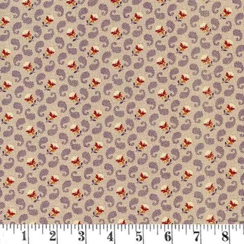 Y780 Judie's Album Quilt - Purple Paisley Floral