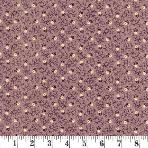 Y782 Judie's Album Quilt - Purple Cream Floral
