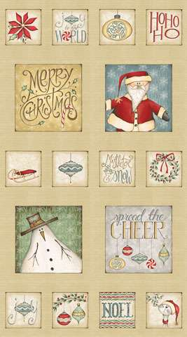 Y802 Christmas Whimsy - Panel