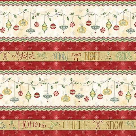 Y803 Christmas Whimsy - Multi Stripe Border