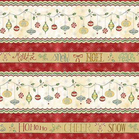 Y803 Christmas Whimsy - Multi Stripe Border