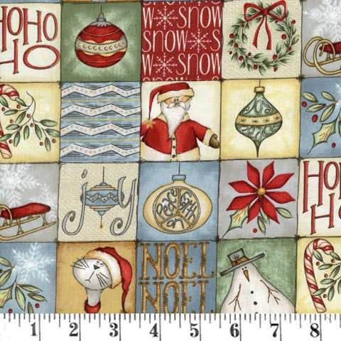 Y804 Christmas Whimsy - Multi Square Patch