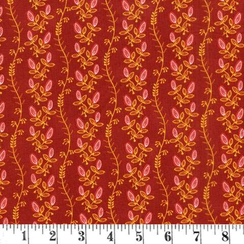 Y860 Tree of Life - Red Vine Jacobean Floral