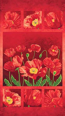 Y880 Poppy Passion - Panel