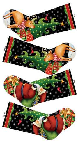 Y941 25 Days Till Christmas - Stockings Panel