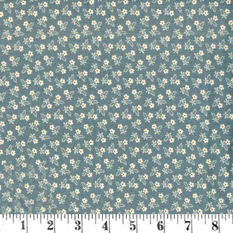 Y990 Lillies of the Field - Daises Washed Denim