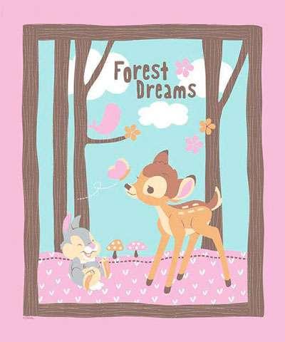 Z004 Bambi Woodland Dreams - Panel