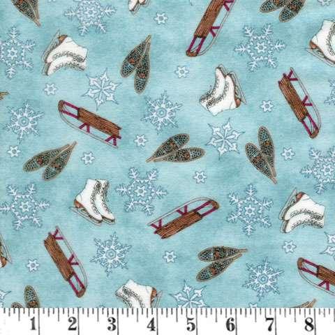 Z082 Frolic In The Snow - Dark Blue (Flannel)