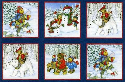 Z168 Snow Bears - Pictures Panel (60cm)