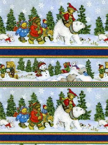 Z169 Snow Bears - Shelf Border Print (60cm)