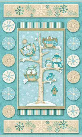 Z354 Wise One - Owl Flannel Panel