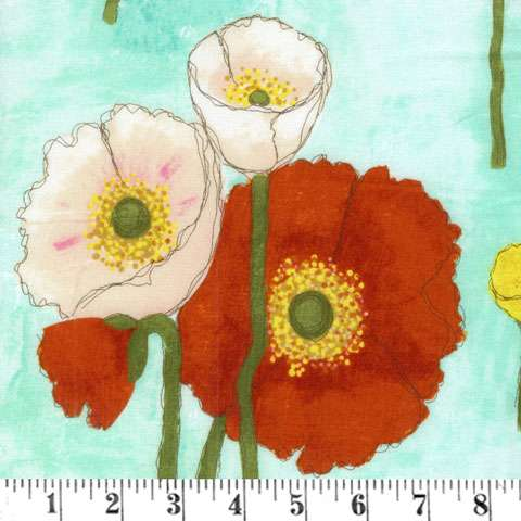 Z424 Painters Canvas - Vignette Gathered Poppies