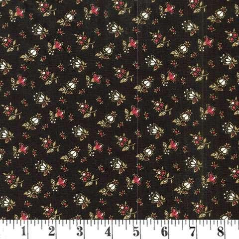 Z445 Classic Elegance - Black Floral Buds