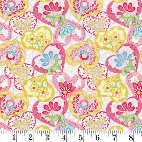 Z535 Carlina - Pink/White Heart to Heart