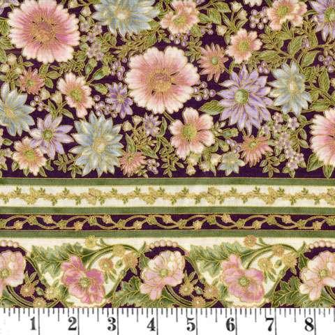 Z561 Tuscan Wildlower - Pink Blossom Stripe