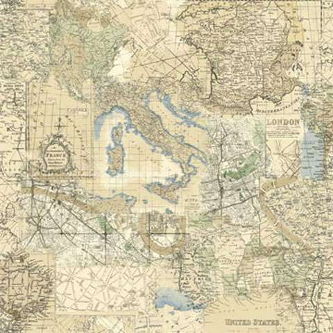 Conversationals fabric in store grandmothers garden z603 vintage travel map gumiabroncs Images