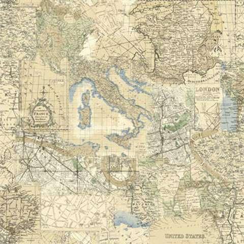Z603 Vintage Travel - Map