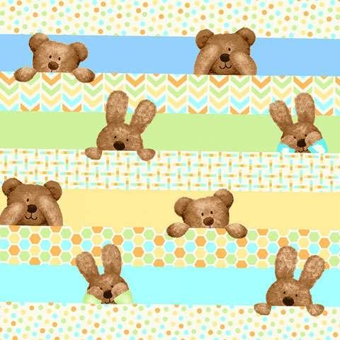 Z746 Peek-a-Boo Flannel - Peeking Stripe