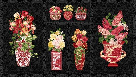 Z749 Botanica III - Vase Panel 60cm