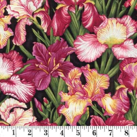 Z751 Botanica III - Scarlet Black Irises