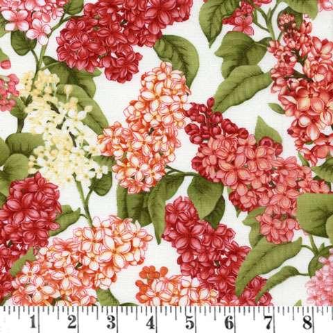 Z752 Botanica III - Scarlet Cream Lilacs