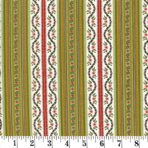 Z753 Botanica III - Cream/Green Stripe