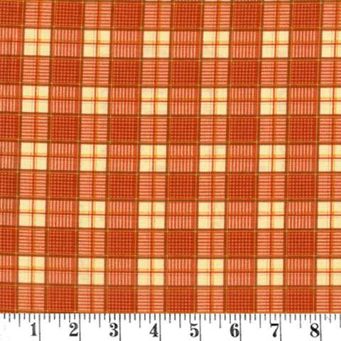 Z782 Rest Your Head - Orange Plaid